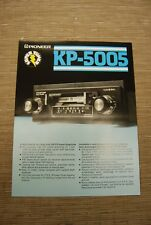 Pioneer KP-5005 Car Stereo  Cassette tape with FM radio  Original Catalogue