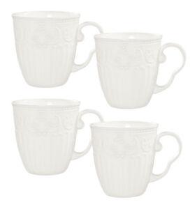 Kaleidos - Set da 4 tazze MUG bianche in porcellana IMPERIAL