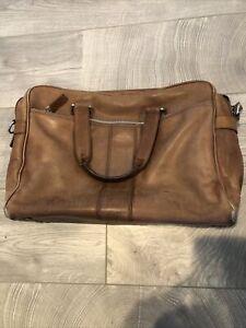 COACH tan/brown computer tote messenger bag