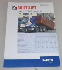 Prospekt / Broschüre Multilift LHZ 320 Hakengerät Stand 09/2000