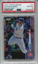 ANTHONY RIZZO 2020 Topps Chrome Refractor Chicago Cubs PSA 10