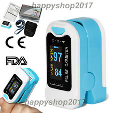 US Seller Finger Tip Pulse Oximeter Blood Oxygen Saturation SpO2 Monitor FDA CE