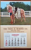 Pinup Cowgirl 1963 Poster / Advertising Calendar-Woman & Horse, 'Pair of Champs'