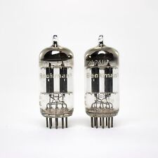 Matched Pair Philips Holland For Beckman 12AU7 ECC82 Short Plates Vacuum Tubes