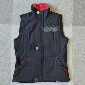 Pearl Izumi Bellinger Vest Zip Up Black Red Womens Medium Primaloft Insulated