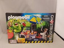 Playmobil 9222 Ghostbusters Hot Dog Stand with Slimer new