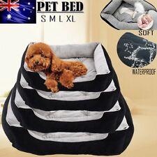 Heavy Duty Warm Pet Bed Mattress Dog Cat Pad Soft Mat Cushion Extra Large Size Black L 80x60x15cm