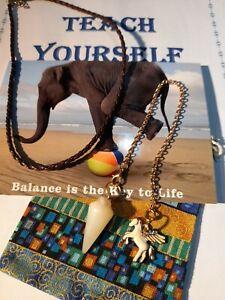 S13 New Jade Pendulum Crystal Gemstone Horse Necklace- Bracelet Booklet Bag Card