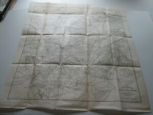 1908 RAILWAY MAIL SERVICE MAP, OH, MI, IN, IL, WI, INT. CORRESPONDENCE SCHOOLS