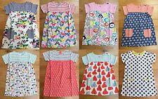 BABY GIRLS EX MINI BODEN HOTCHPOTCH JERSEY TUNIC DRESS 2-3 3-4 YR SUMMER POCKETS