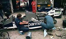 BMW F1 TURBO ENGINE NELSON PIQUET TEO FABI 1984 BRITISH GRAND PRIX GP PHOTOGRAPH