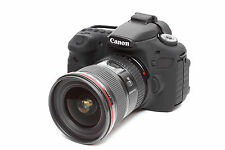 Camera silicone cover for Canon EOS 60D & LCD Screen Protector Black