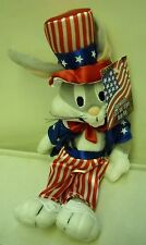 #3273 NWT RETIRED Warner Bros Looney Tunes Bugs Bunny Stars & Stripes Bean Bag