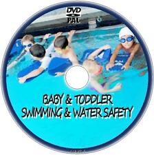 TEACH YOUR BABY KIDS CHILDREN TODDLER TO SWIM & BE SAFE IN WATER NEW DVD