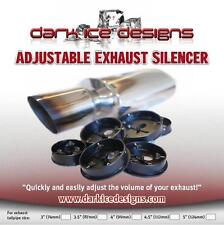 "Adjustable Volume 4"" Car Exhaust Silencer Baffle DB KILLER - UK made .SIL.003"