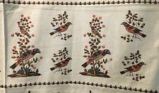 Elegant Birds Fabric WINTERTHUR MUSEUM John Hewson American Artist Repro 1/3 Yd