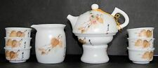 Chinese Porcelain Poplar Leaf Tea Set (Ding Yao)