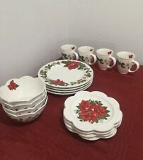 PRINCESS House Marbella Holiday Elegance 16 Pieces Dinnerware Set(3261) NIB