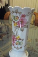 Vintage Bareuther Waldsassen  Bavaria Germany Floral Vase - Scalloped Edging