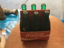 Vintage Mini Coke Coca Cola Bottles With 6 Pack Holder