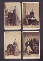 Lot of Four Antique CDV,s - Husbands and Wives of LANCASTER, PA - Civil War Era