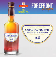 Personalised Brandy cognac bottle label, Perfect Birthday/Wedding/ Gift