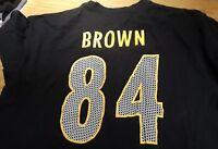Antonio Brown Pittsburgh Steelers 84 NFL Team Apparel Shirt Size XL