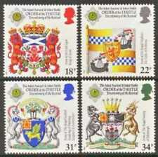 Gb Mnh Scott 1184-1187, 1987 Coat of Arms, Order of the Thistle, set of 4