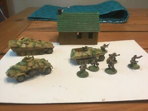 Bolt Action 1/56 Waffen SS Armored Recon unit well painted cammo + 6 dismounts