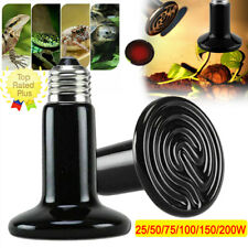 25-200W Ceramic Pet Heating Light Heater Brooder Reptile Snake Growth Lamp Bulb