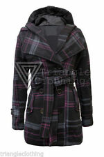 Cotton Check Outdoor Plus Size Coats & Jackets for Women