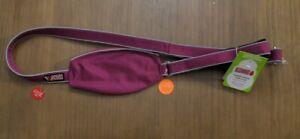KONG Comfort+ Reflective Padded Handle Dog Leash 4 ft in Purple Maroon NWT