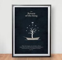 LORD OF THE RINGS 3 Movie Poster Film Vintage Art Retro Print Home Decor