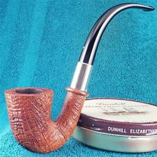 EXCELLENT 2005 Dunhill TANSHELL FULL BENT SILVER CALABASH English Estate Pipe