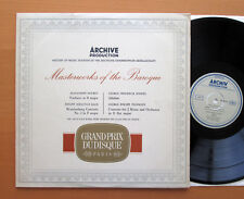 ARCHIV 104810 Masterworks Of The Baroque Mouet Bach Handel Telemann Stereo NM/EX