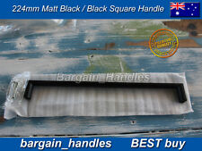 Kitchen cabinets door Black Square D-Square handles pullers 35x224mm Best buy