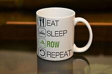 EAT SLEEP Row Sublimation Mug Birthday Gift Sport Hobby Personalised Name Rower