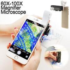 Universal 60X-100X Zoom Phone LED Digital Camera Microscope Lens Loupe Magnifier