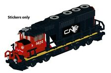Custom CN train stickers 4 LEGO 10219 Maersk alternate build
