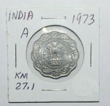 1973, 10 Paise India High Grade and High Value Coin