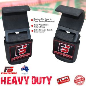 WEIGHT LIFTING POWER HOOKS for Grip DEADLIFT STRAPS Gym POWER Wrist Support