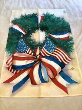 Toland House Flag Patriotic Wreath Standard 24x36 American Flag Michael Sparks
