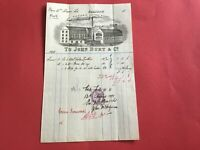 John Burt and Co Pleasance Leather Works 1895 Illustrated  receipt R33140
