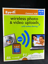 BRAND NEW: Eye-Fi Connect X2 4GB + Wi-Fi SD Card + Wireless Uploads