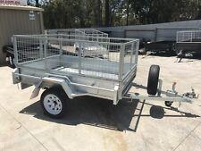 7x5 Heavy Duty Galvanised Single Axle - 2ft Galvanised cage - Full Welded!