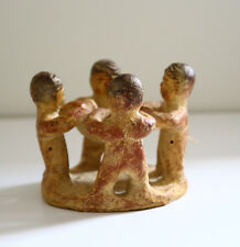 Mexican Ceramic Figurine Mayan Collectible Pottery Folk Art Candle Rustic Clay