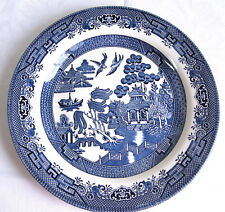 "Churchill Blue Willow Dinner Plate (Georgian) 10 1/4"" Mint condition"