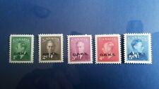 "Canada stamps # 012-015A KG Vl ""OHMS"" overprint MNH VF/XF"