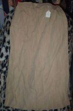 "Vintage N.O.S.1950's rayon linen taupe side zip skirt-23"" waist + 28"" length !"