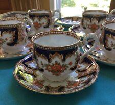 c1932 Royal Albert ROYALTY Crown China 5 Tea Cups & 6 Saucers Imari , ENGLAND